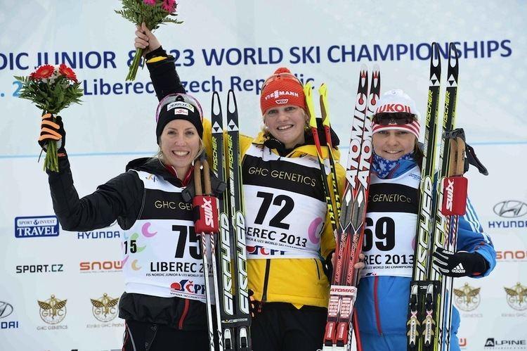 Victoria Carl FasterSkiercom Carl Rises to Gold in Junior Worlds 5 k