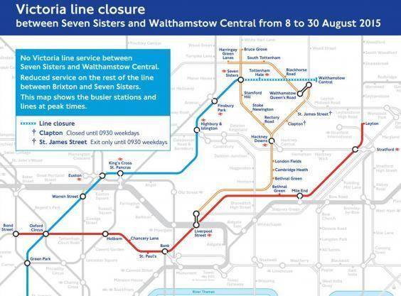 Victoria line Victoria Line closure QampA Which stations will be closed How long