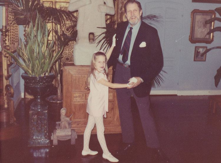 Victoria Price Vincent Price Master of Horror on film but great dad off screen