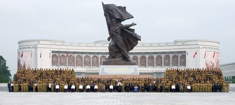Victorious War Museum Kim Jong Un Attends Commemorative Photo Session with Overseas Korean