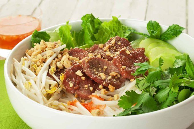 Vietnamese noodles Vietnamese Noodle Salad With Caramelized Pork Recipe