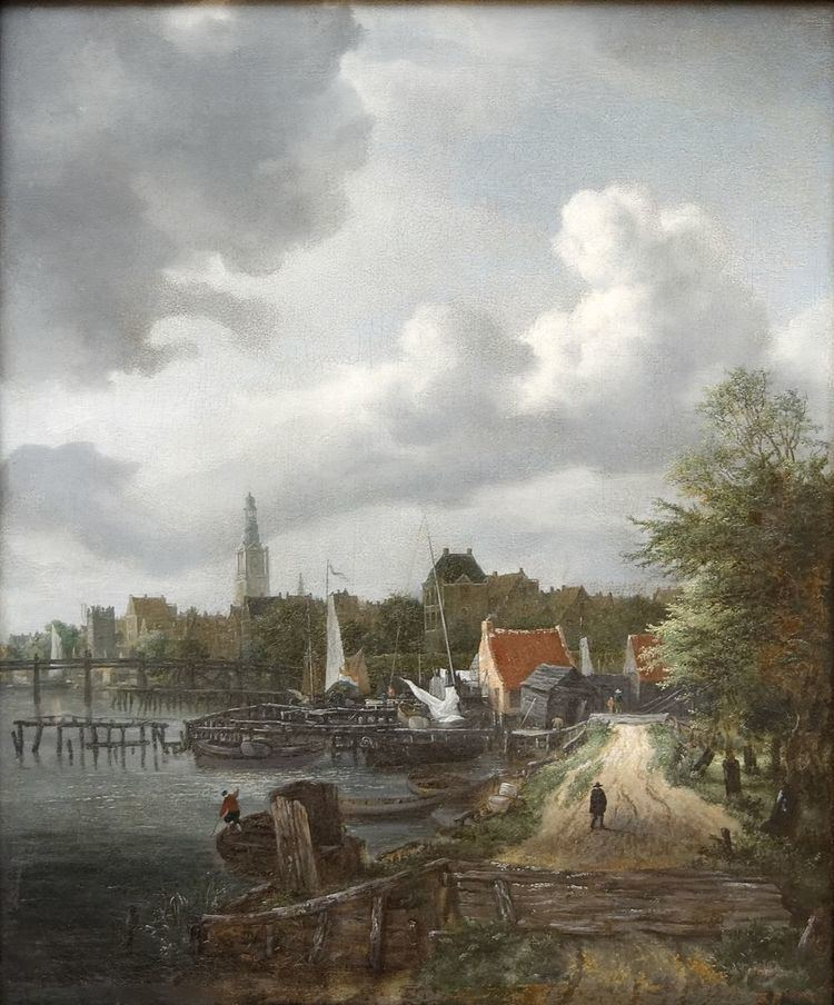 View of the Binnenamstel at Amsterdam