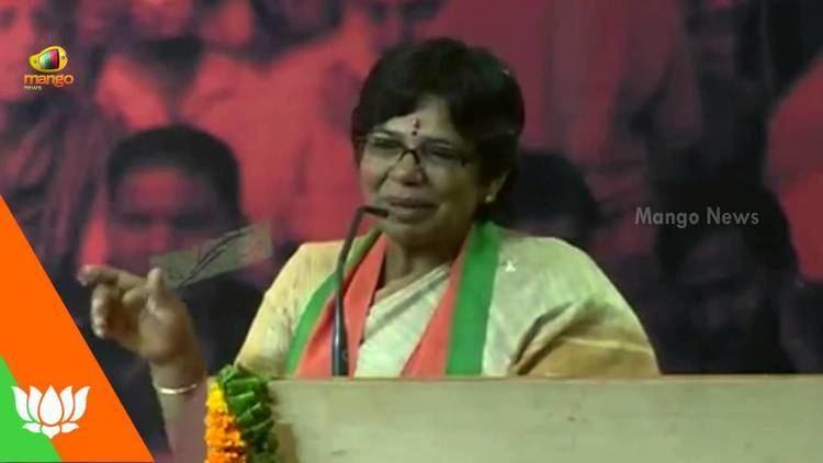 Vijaya Rahatkar BJP Mahila Morcha National president Vijaya Rahatkar addresses the