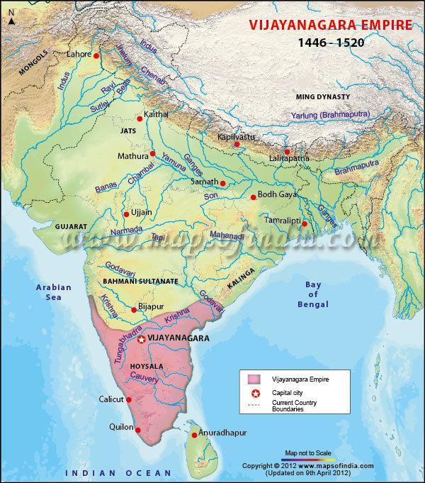 Vijayanagara Empire Vijayanagara Empire Map Vijayanagara Dynasty