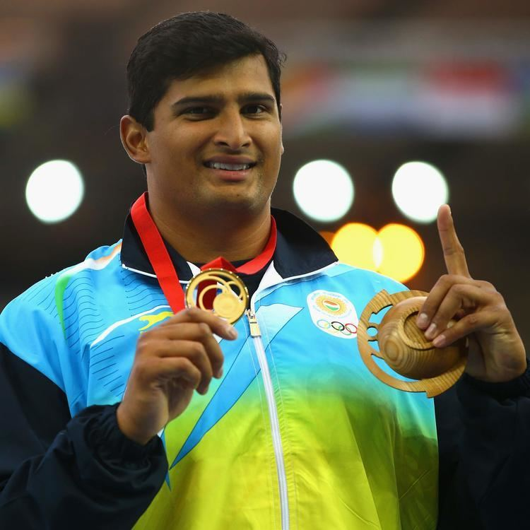 Vikas Gowda Vikas Gowda Lalita Babbar win gold at Asian Athletics