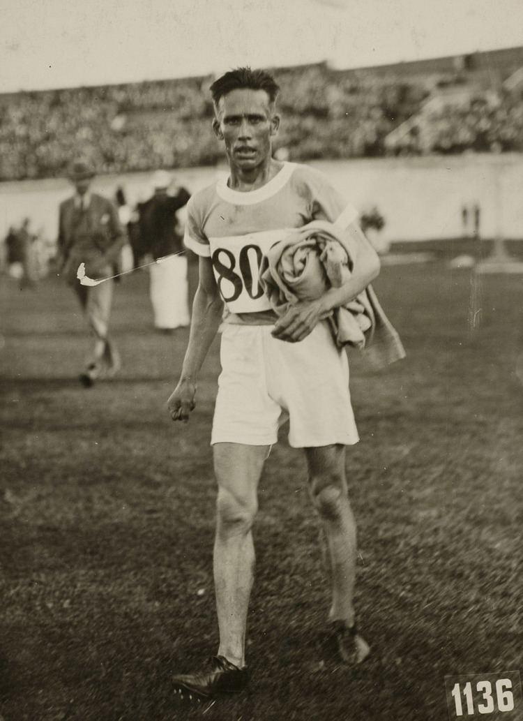 Ville Ritola De Fin Ville Ritola winnaar van de 5000 m hardlopen