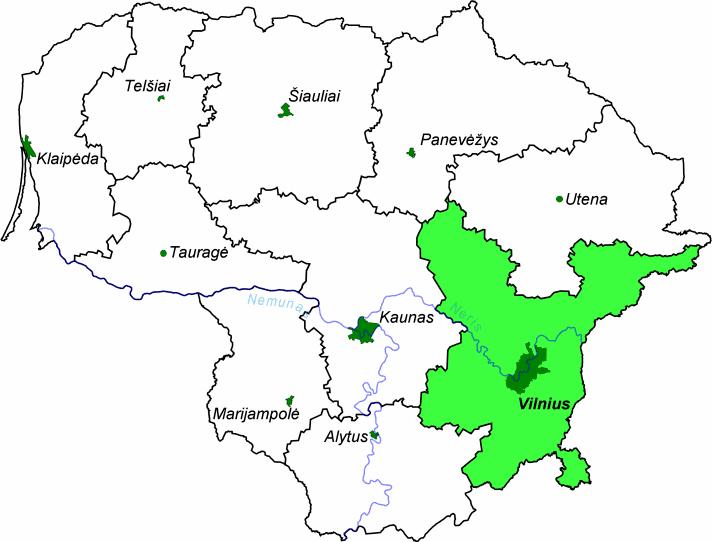 Vilnius County in the past, History of Vilnius County