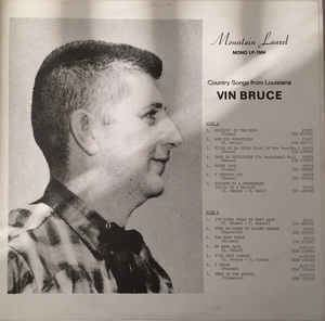 Vin Bruce Vin Bruce Country Songs From Louisiana Vinyl LP at Discogs