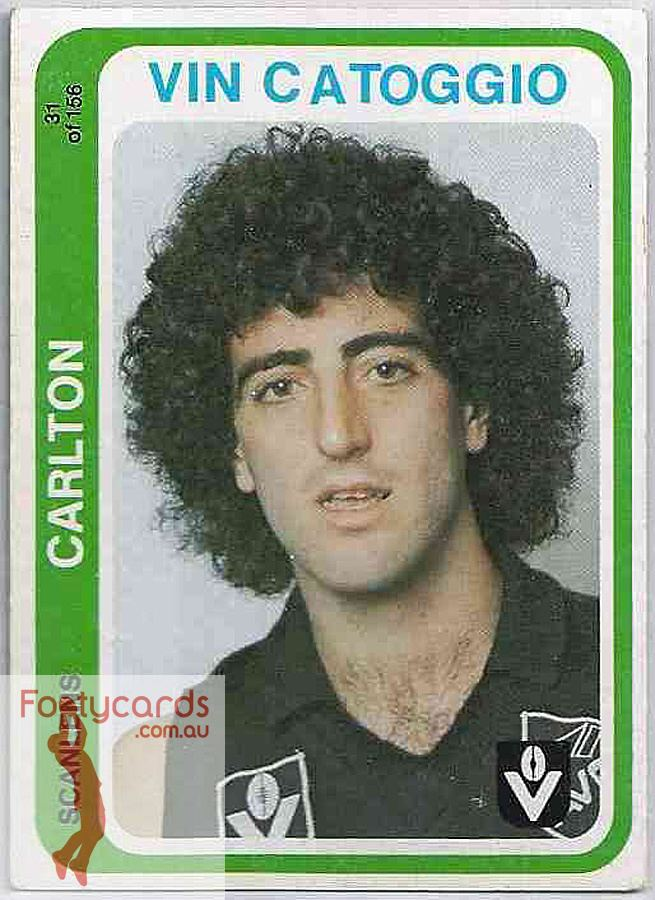 Vin Catoggio 19911963 1979 VFL Scanlens 1979 VFLAFL Scanlens