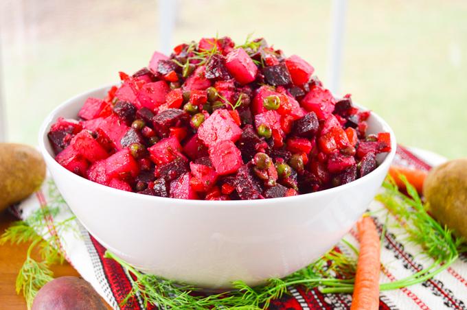 Vinegret Vinegret Russian Beet Potato Salad Whole Made Living