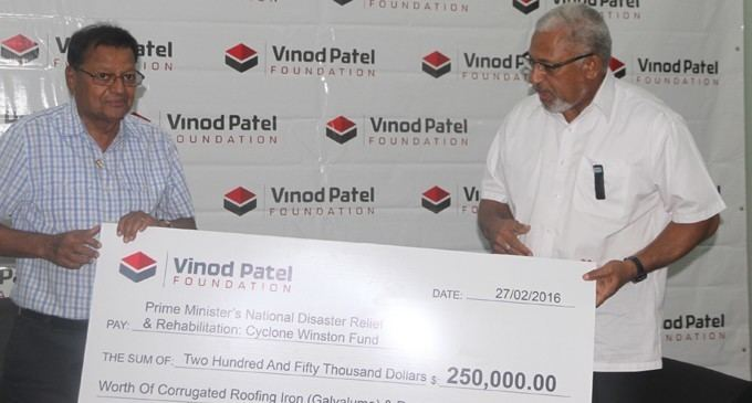 Vinod Patel Vinod Patel Helps With Building Materials Fiji Sun