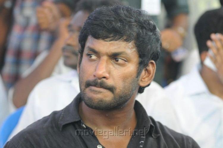Vishal (actor) Picture 438275 Actor Vishal Protest for Sri Lankan