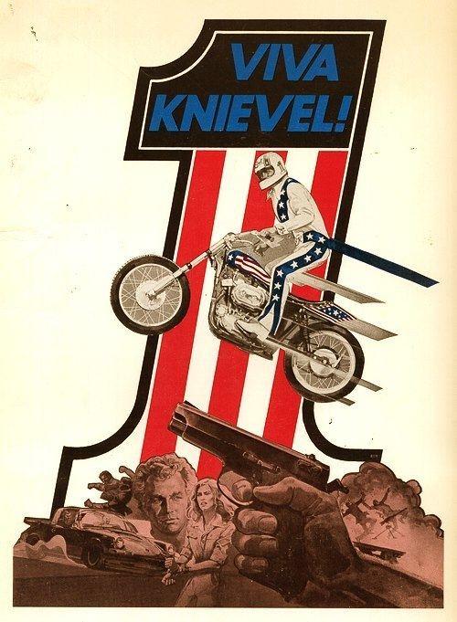Viva Knievel! Viva Knievel Movie Poster 1977 Moto Lady