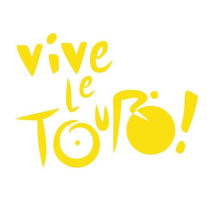 Vive le Tour Vive le Tour Tour de France Cycling Decal