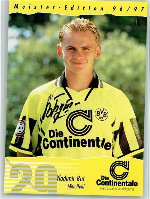 Vladimir But Fuball Vladimir But Borussia Dortmund Deutscher Meister 1996