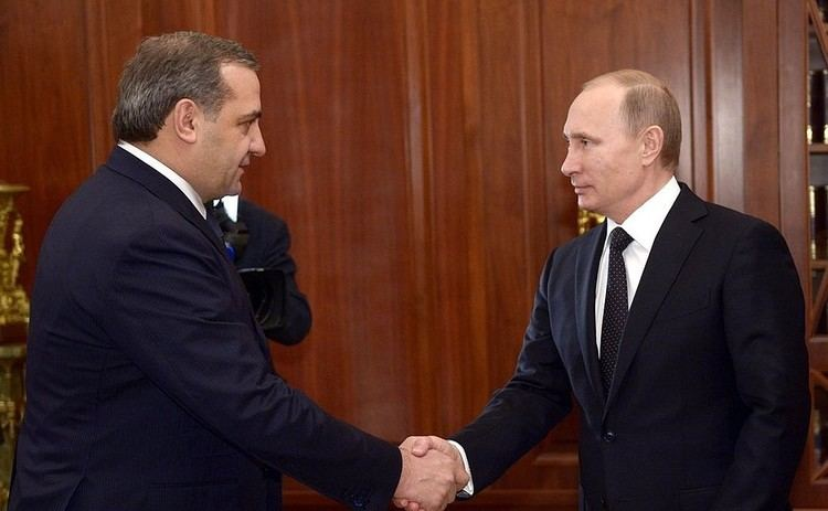 Vladimir Puchkov Meeting with Emergency Situations Minister Vladimir