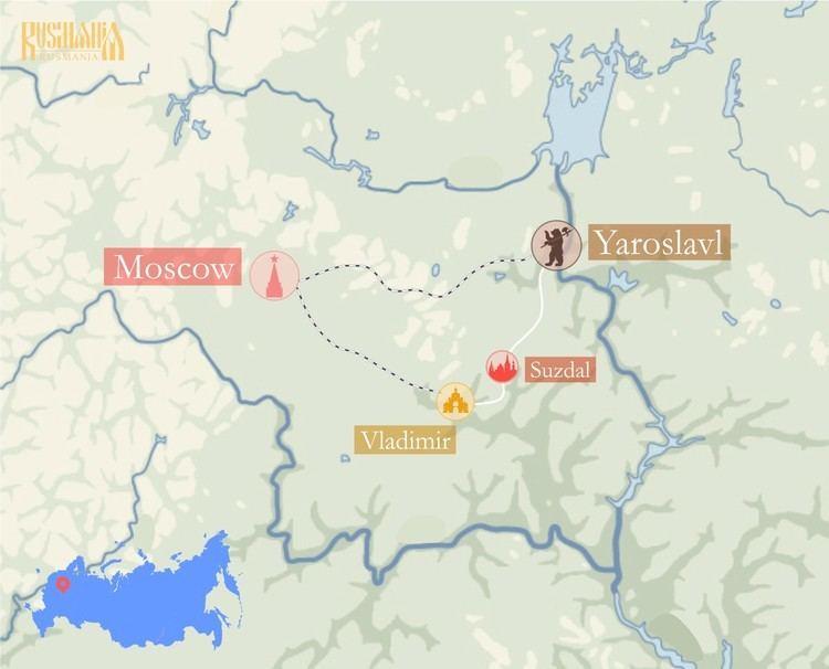 Vladimir-Suzdal Vladimir Suzdal Yaroslavl tour Rusmania