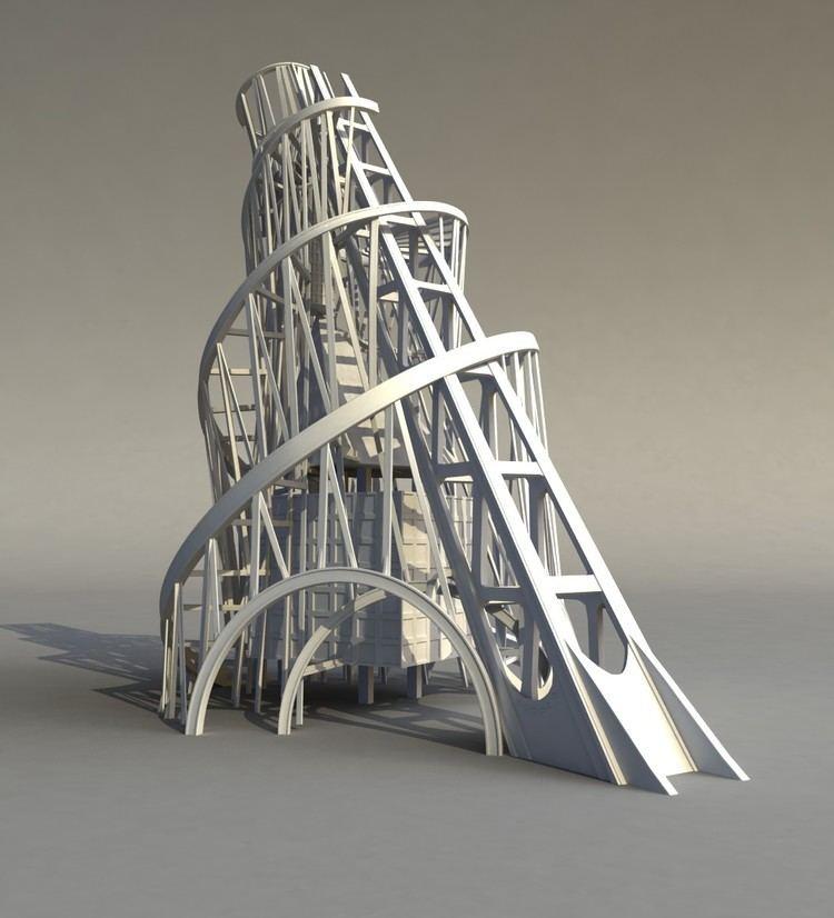 Vladimir Tatlin monument tower tatlin s 3d model architecture projects Pinterest