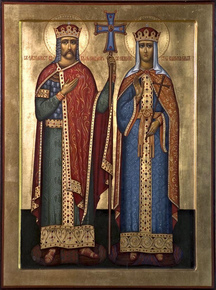 Vladimir the Great Vladimir of Kiev and Olga First Christian Rulers in the