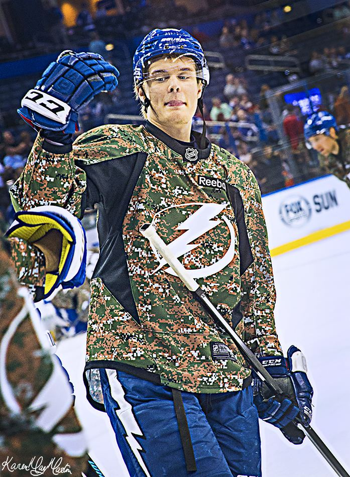 Vladislav Namestnikov Vladislav Namestnikov Tampa Bay Lightning Military Appreciation