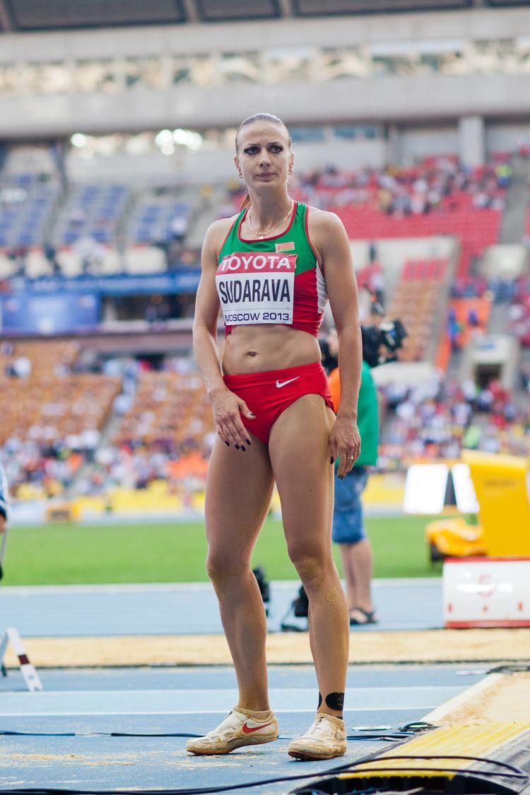 Volha Sudarava FileVolha Sudarava 2013 World Championships in Athleticsjpg