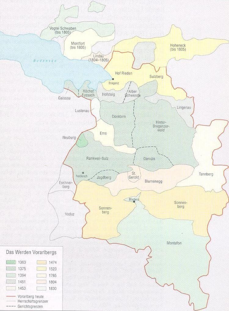 Vorarlberg in the past, History of Vorarlberg