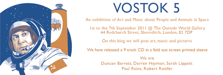 Vostok 5 Vostok 5 Art and Music about Space