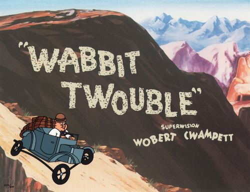 Comic Mint Animation Art Wabbit Twouble By Bob Clampett