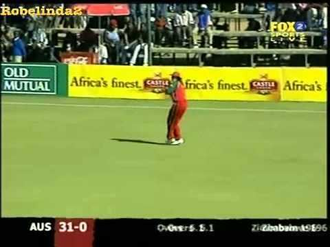 Waddington Mwayenga bowling to Australia 2004 YouTube