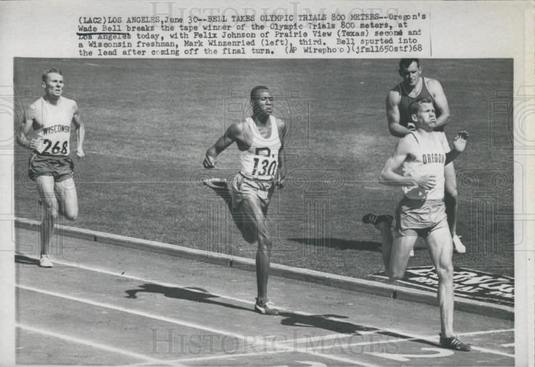 Wade Bell 1968 Press Photo Oregons Wade Bell Wins Los Angeles Olympic Trials