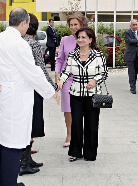 Wafaa Sleiman First Lady Wafaa Sleiman Pictures Queen Sofia Visits The