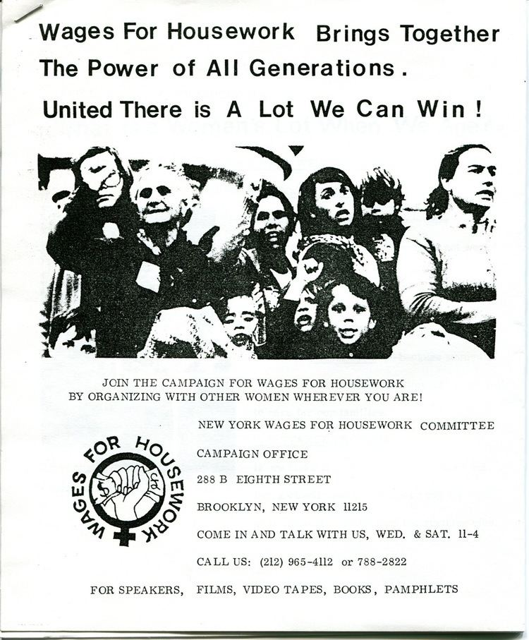 Wages for housework MayDay Rooms WfHw Pamphlets Flyers Photographs