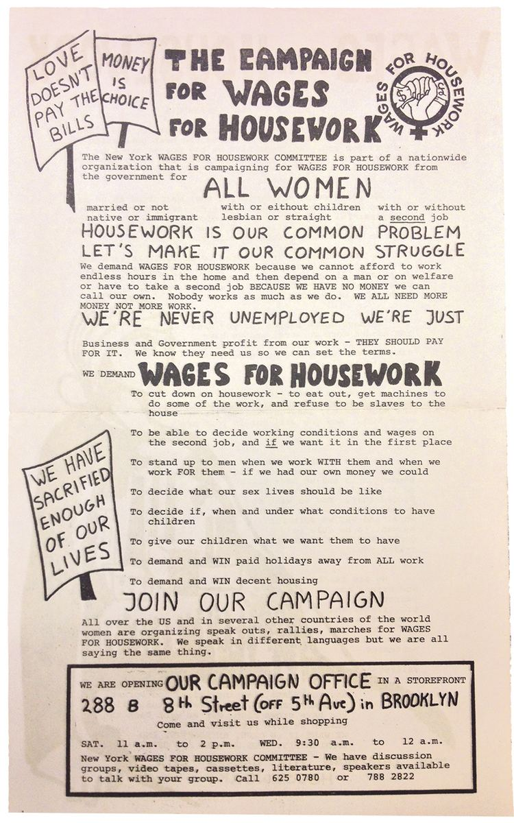Wages for housework From the Archive Wages for Housework b a m n