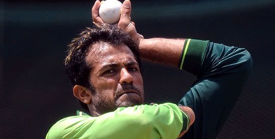 Wahab Riaz (Cricketer) playing cricket