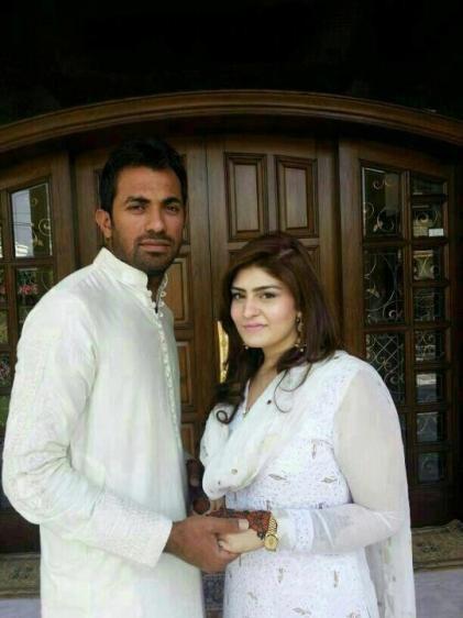 Wahab Riaz (Cricketer) family
