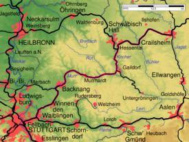 Waiblingen–Schwäbisch Hall railway httpsuploadwikimediaorgwikipediacommonsthu