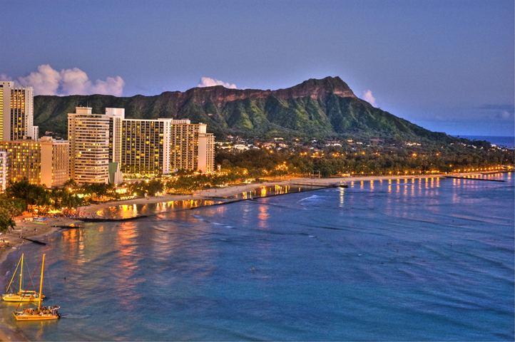 Waikiki Beautiful Landscapes of Waikiki