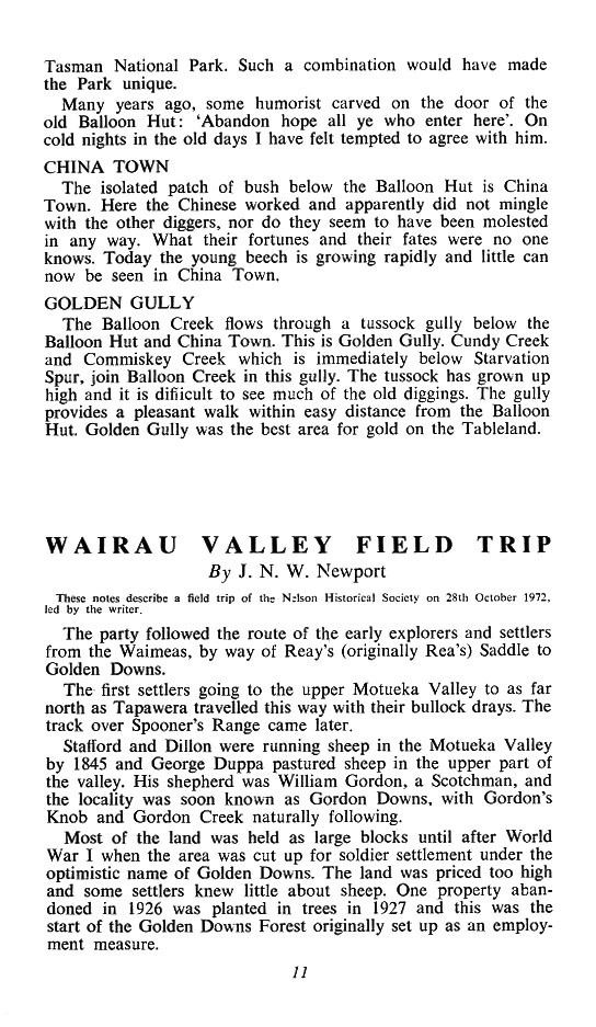 Wairau Valley in the past, History of Wairau Valley