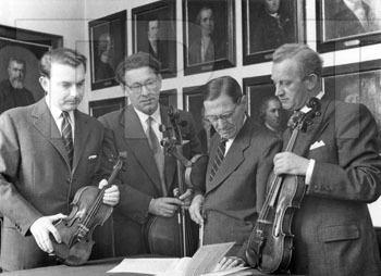 Walter Barylli T7650Barylli Quartet 1955 l to r Walter Barylli Emanuel Brabec