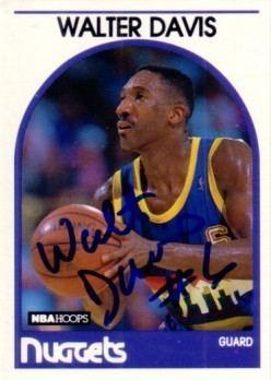 Walter Davis (basketball) Walter Davis autographed Denver Nuggets 198990 Hoops card Retired