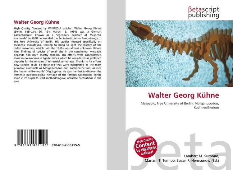 Walter Georg Kühne Walter Georg Khne 9786132081155 6132081151 9786132081155