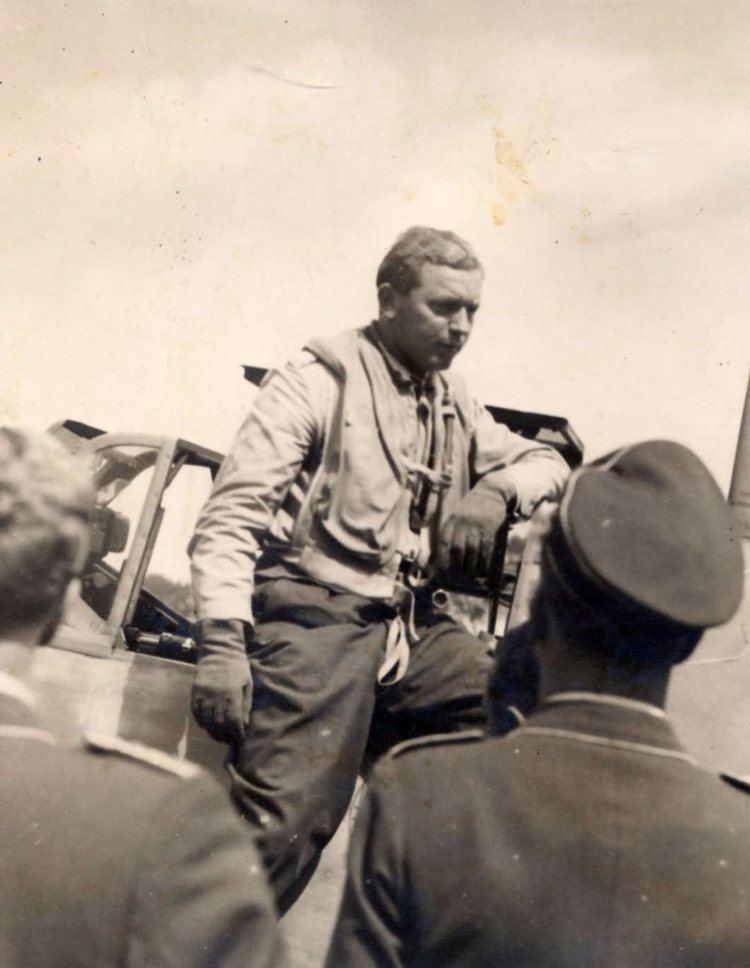 Walter Oesau Walter oesau and me109 World War Photos