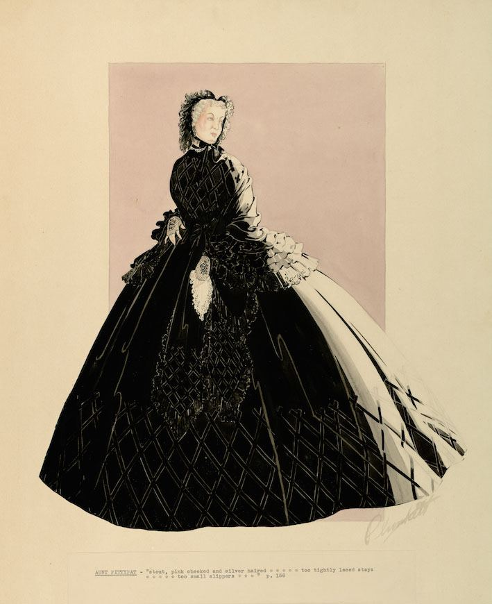 Walter Plunkett Gowns Illustrations and More The Making of Gone With