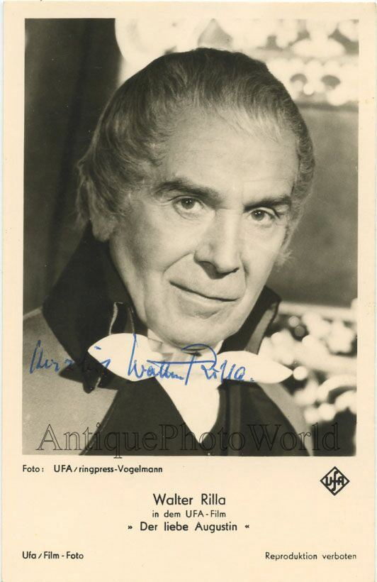 Walter Rilla Walter Rilla German actor antique hand signed autographed