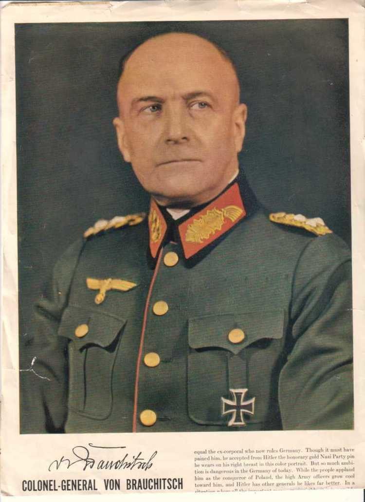Walther von Brauchitsch Third Reich Color Pictures Generalfeldmarschall Walther