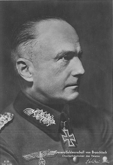 Walther von Brauchitsch Generalfeldmarschall Walther von Brauchitsch Lexikon der