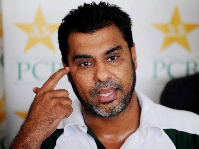 Waqar Younis (Cricketer) playing cricket