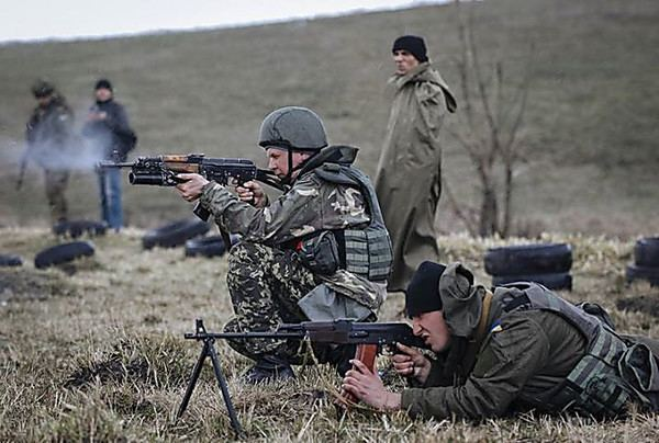 War in Donbass War on Donbass terrorists continuously fire the second day at