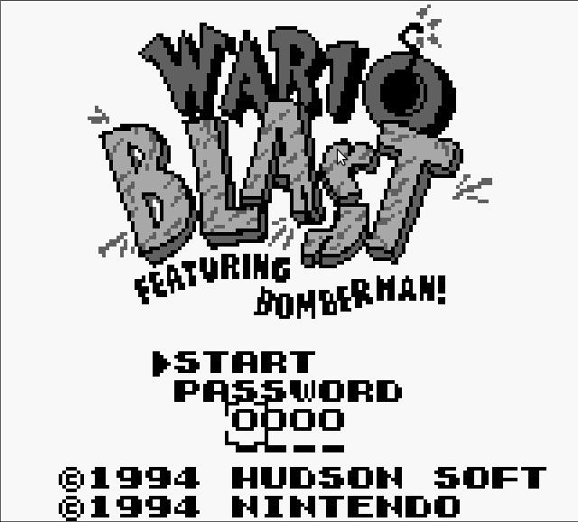 Wario Blast Wario Blast Featuring Bomberman USA Europe ROM GB ROMs