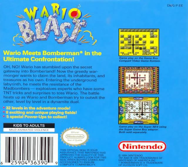 Wario Blast Wario Blast Featuring Bomberman Box Shot for Game Boy GameFAQs